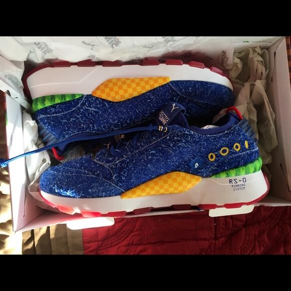 Puma Shoes Rs0 Sonic The Hedgehog Blue Suede Poshmark